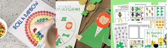 St. Patrick's Day Kids Games & Activities from overthebigmoon.com!
