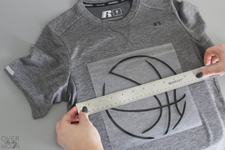 Placing an Iron On Design on a t-shirt! From overthebigmoon.com!