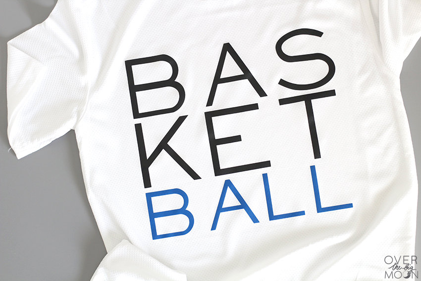 DIY Kids Basketball Shirts are super easy to make and cost a fraction of what you'd pay in the stores! From overthebigmoon.com!