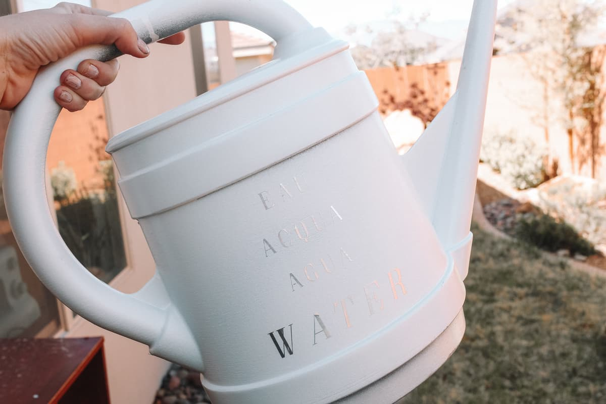 finished watering can
