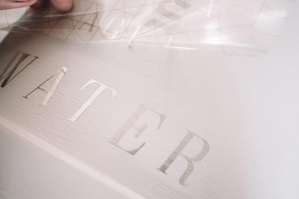 removing transfer tape