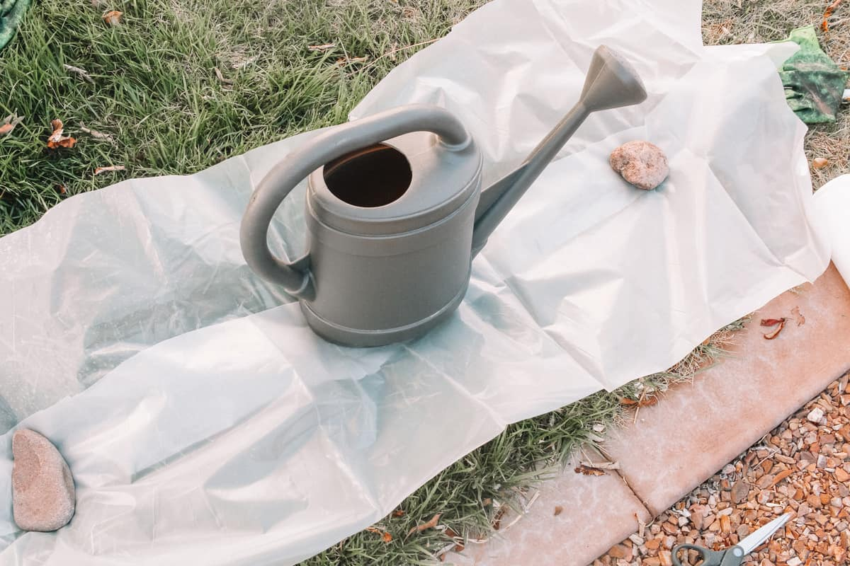 watering can before