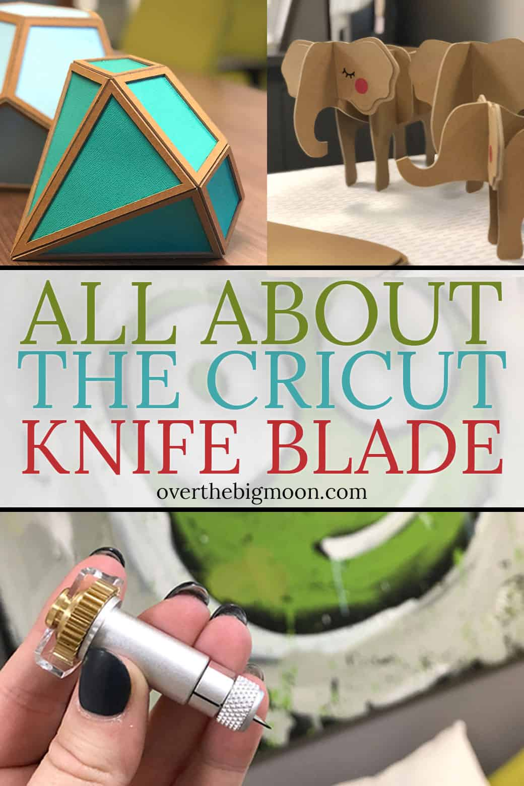 Everything that you need to know about the Cricut Knife Blade! What can it cut? How thick of a material can it cut? How much does it cost? Come learn everything you need to know to get started! From overthebigmoon.com!