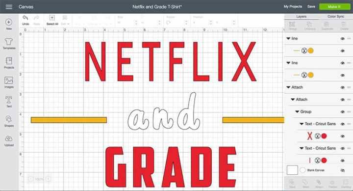 Netflix and Grade Cricut Design Space File