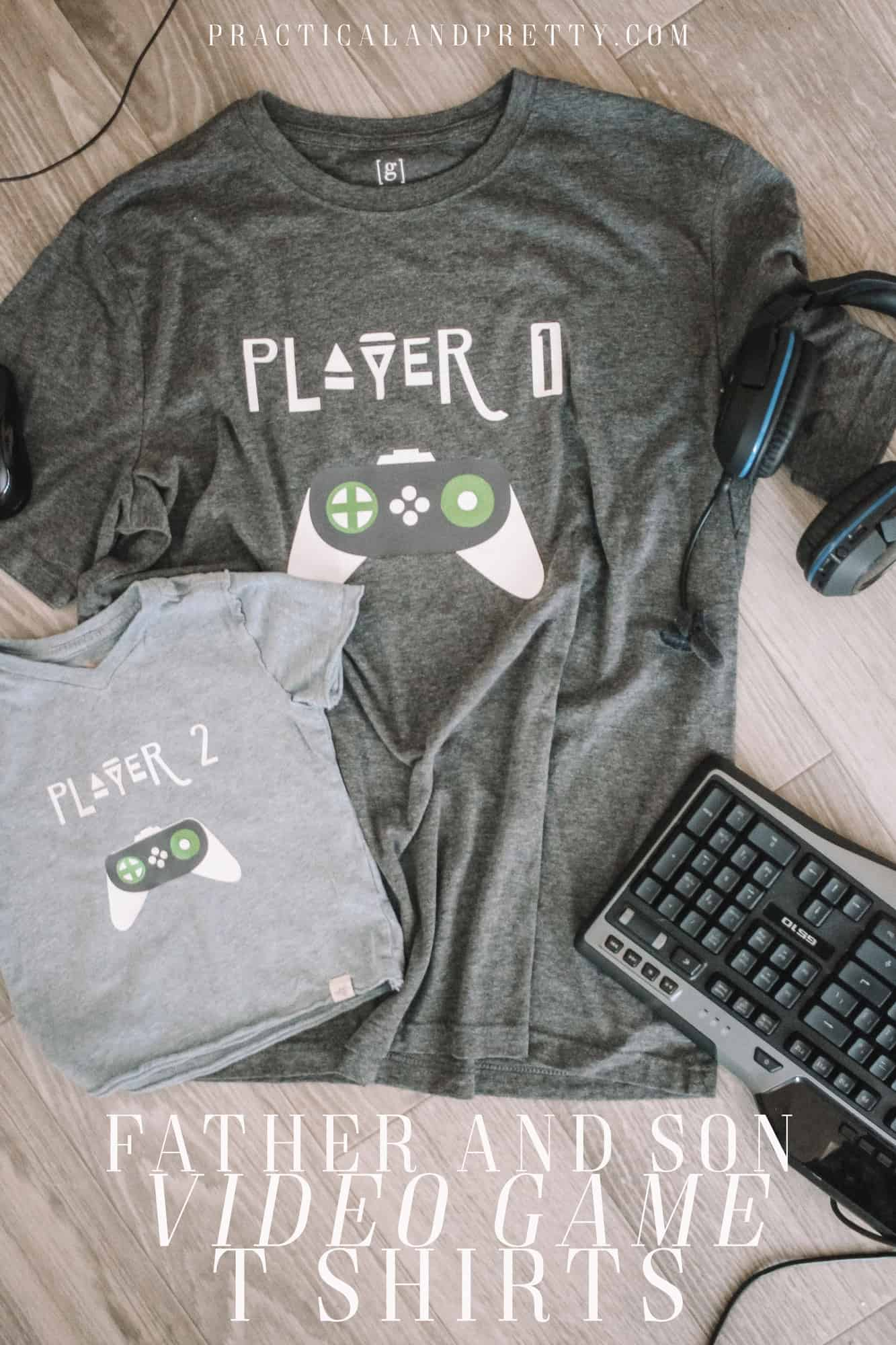 Make a matching set of shirts for your favorite video game playing father and son using your Cricut!You can make these for any age duo.