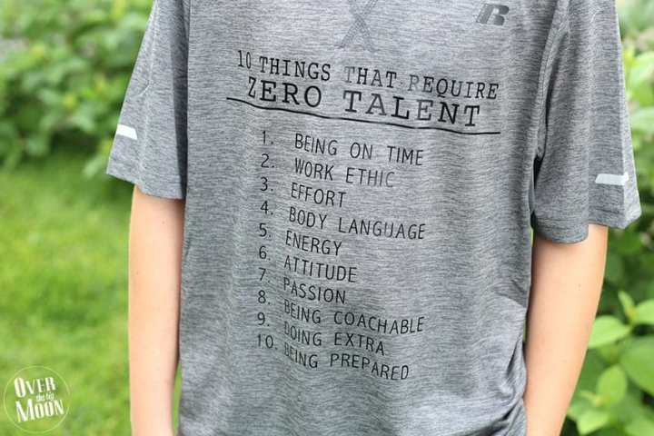 10 Things that Require Zero Talent T-Shirt Idea from overthebigmoon.com!