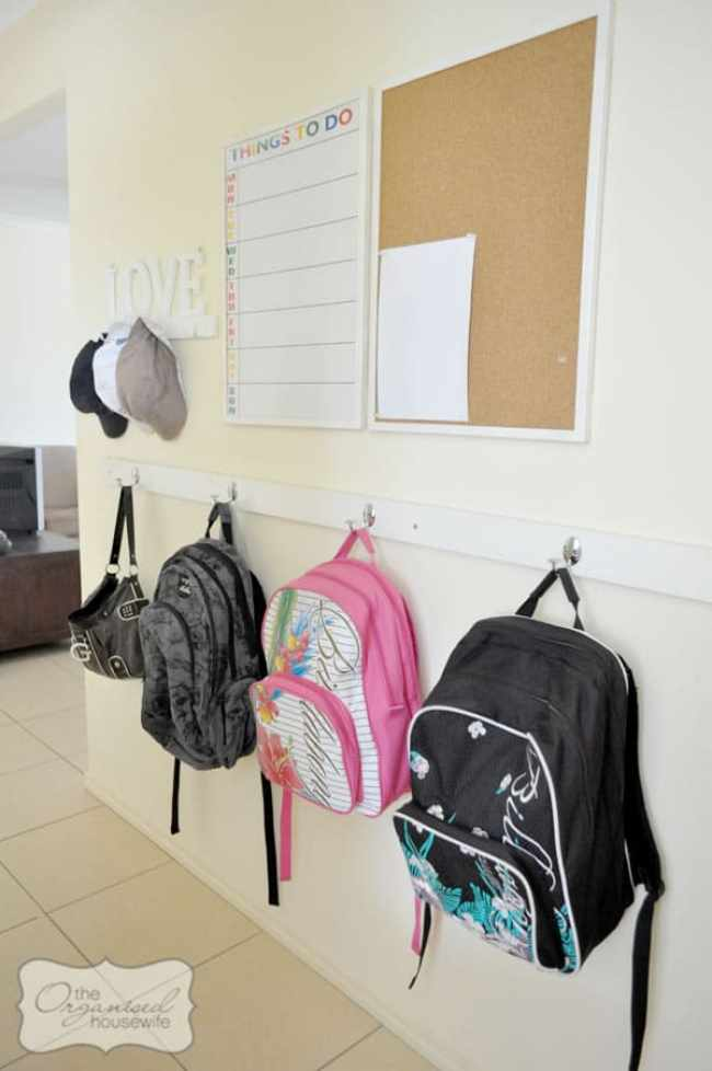 Backpack areas can be simple -- they don't need to fancy or elaborate.