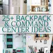 25 Backpack and Command Center Organization Ideas -- come see lots of ideas to help you organize your home! From overthebigmoon.com!