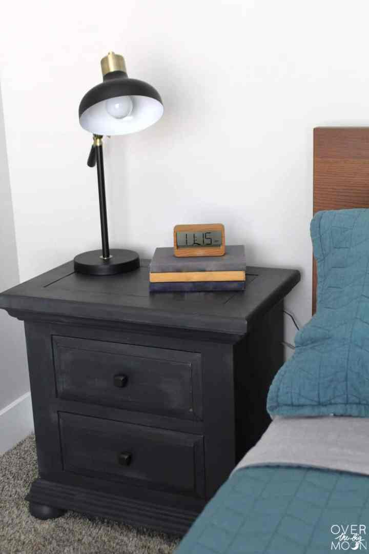 5 Ways to Refresh a Kids Bedroom - throw a coat of paint on old furniture to give it new life! From overthebigmoon.com!