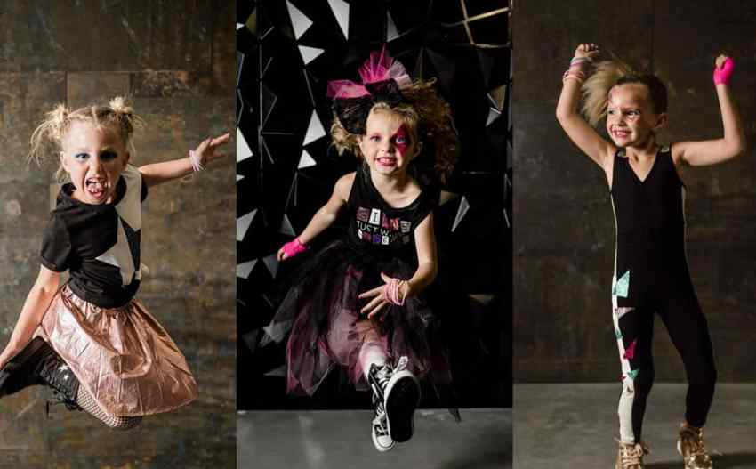 DIY Girls Rock Star Costumes made by embellishing store bought outfits with Iron On and more! From overthebigmoon.com!