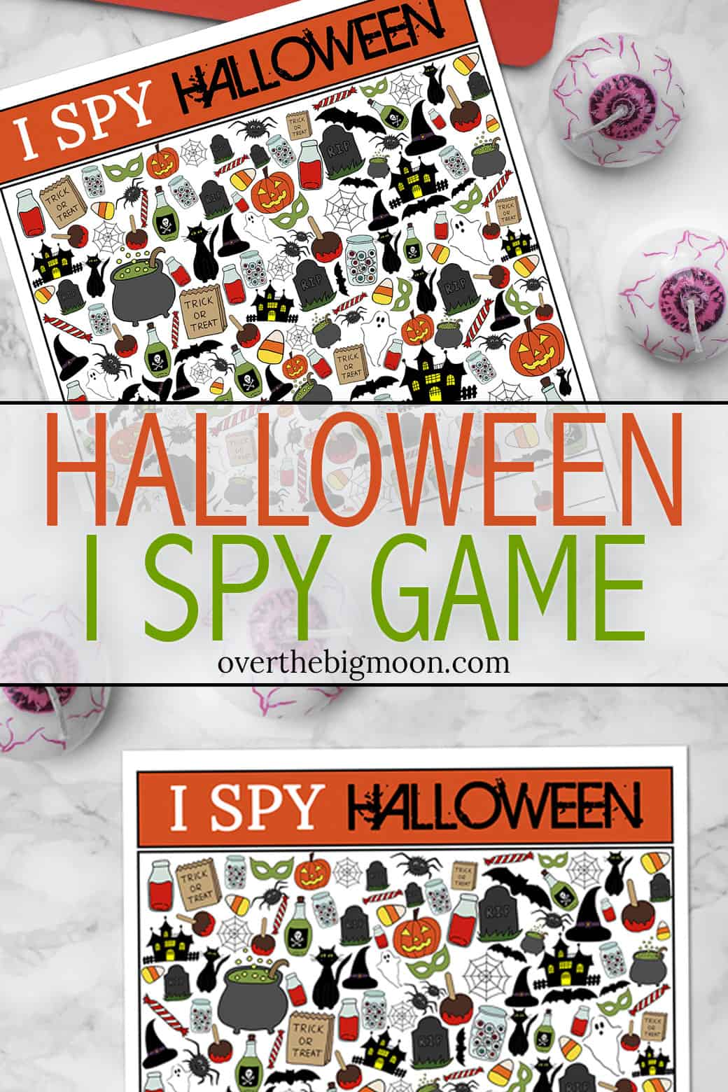 Halloween I Spy Printable Game