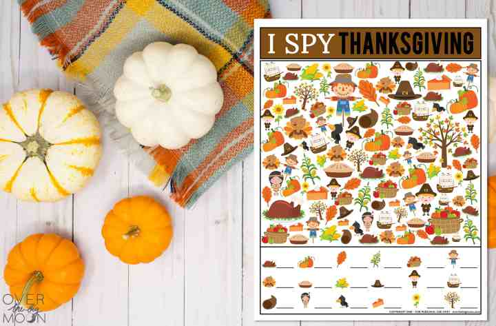 Thanksgiving I Spy Printable Game from overthebigmoon.com!