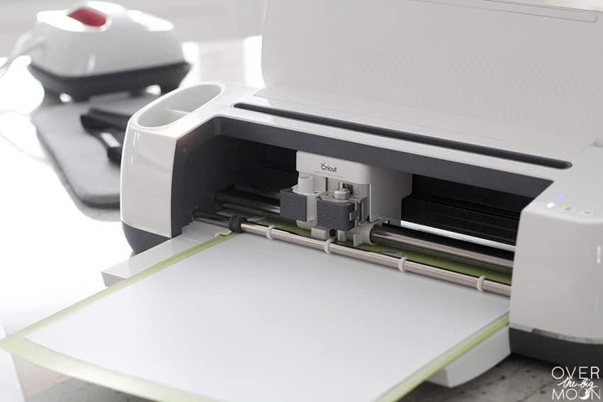 Cricut Maker cutting Iron On for a Rock Star Costume! From overthebigmoon.com!