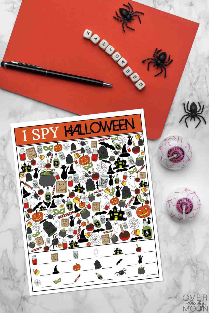 Halloween I Spy Game for Kids! From overthebigmoon.com!
