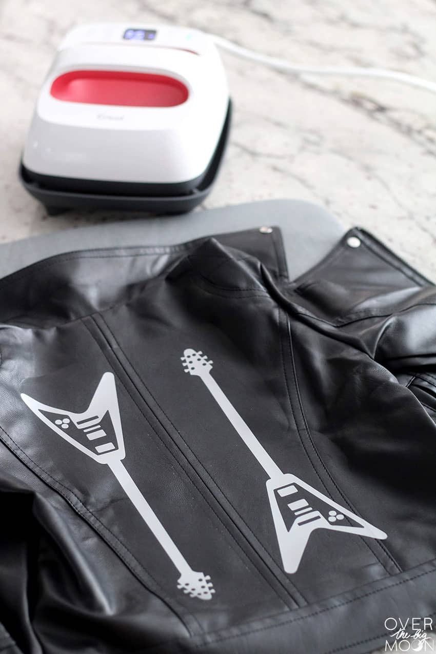 Guitars on Leather Jacket from overthebigmoon.com!