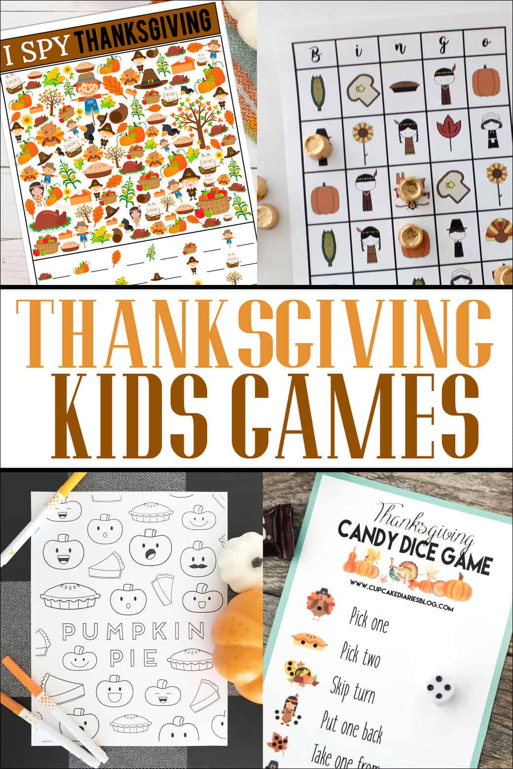 Thanksgiving Printable Kids Games | Overthebigmoon.com