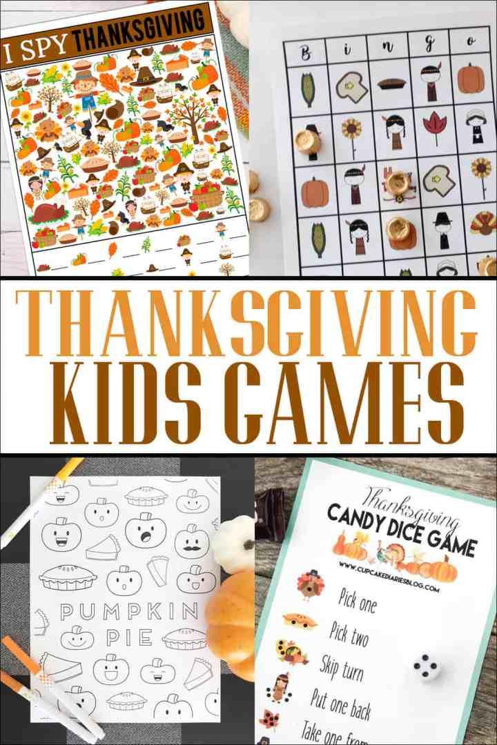 Thanksgiving Printable Kids Games | Overthebigmoon.com
