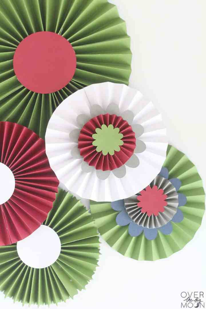 DIY Rosettes made with the Cricut Maker! From overthebigmoon.com!