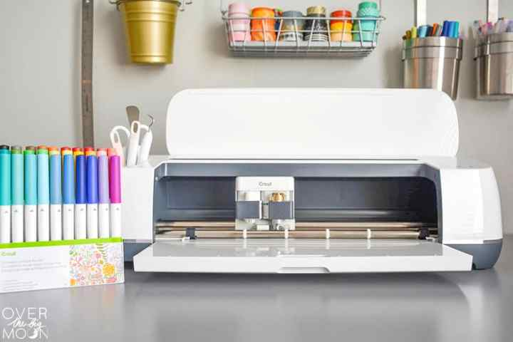 The Cricut Maker Machine and a comparison to the Cricut Explore Air 2! From overthebigmoon.com!