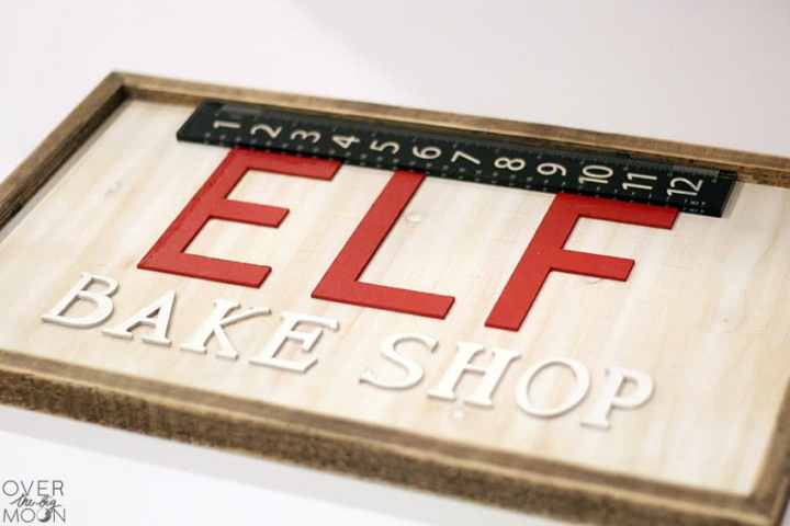 Wooden Elf Bake Shop Sign from overthebigmoon.com!