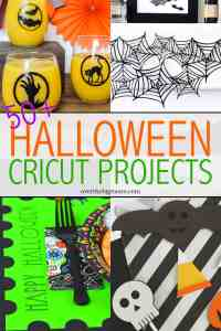 50+ Halloween Projects to make with your Cricut cutting machine! From overthebigmoon.com!
