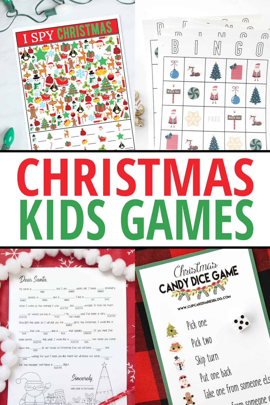 picture regarding Printable Christmas Games identified as Xmas I Spy Printable Recreation Previously mentioned The Substantial Moon