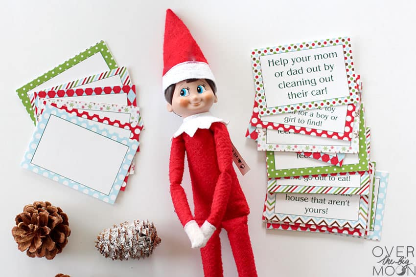 Elf On The Shelf Printable Good Deed Cards Over The Big Moon
