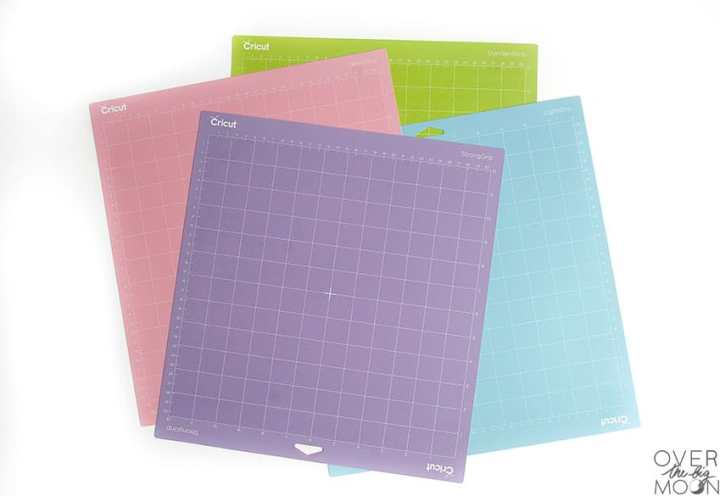 Cricut Mats - Purple, Blue, Pink and Green. All for different materials!