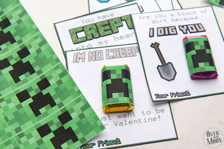 Minecraft Printable Valentine's perfect for all the Minecraft lovers out there! From overthebigmoon.com!