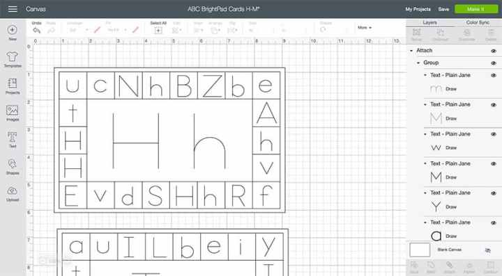 Design Space for Alphabet Learning Cards!