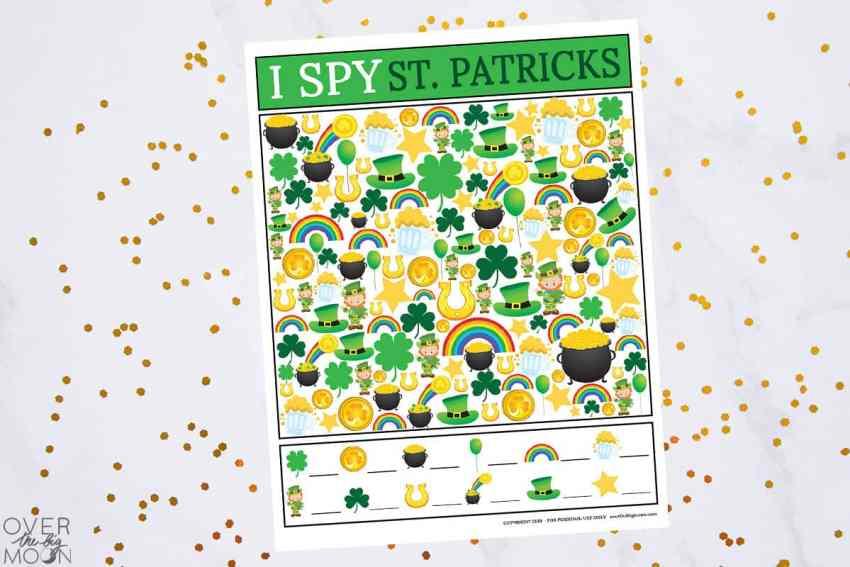 I Spy St.Patrick's Day Game