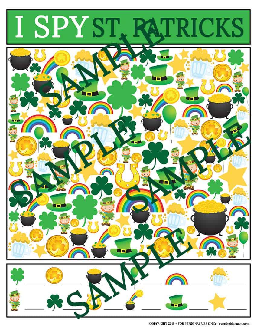 St.Patrick's Day I Spy Game