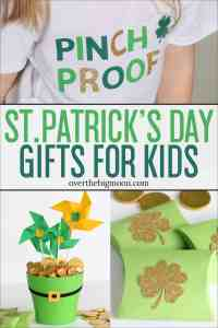 St. Patrick's Day is a super easy holiday to make extra fun! Today I'm sharing three fun St. Patrick's Day Gifts for Kids that are all made with my Cricut Maker that will all make their day special!
