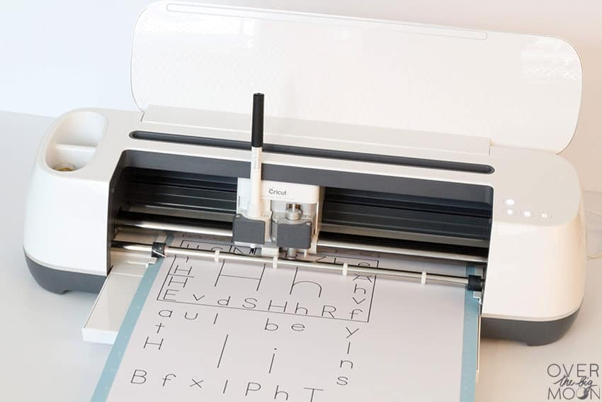 Use the Cricut Pen in the Cricut Maker to create the Alphabet Learning Cards.