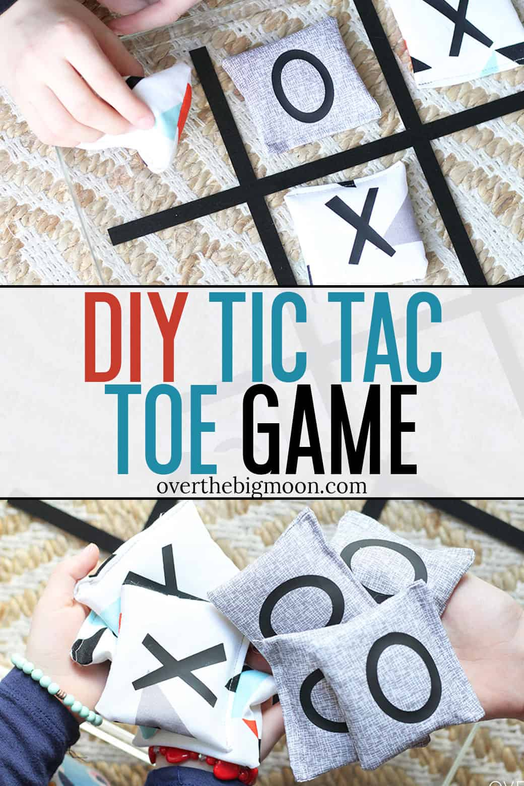 Make this easy Tic Tac Toe Game using your Cricut Maker in about an hour! This game is perfect for indoors or outdoors and hours of fun! From overthebigmoon.com!