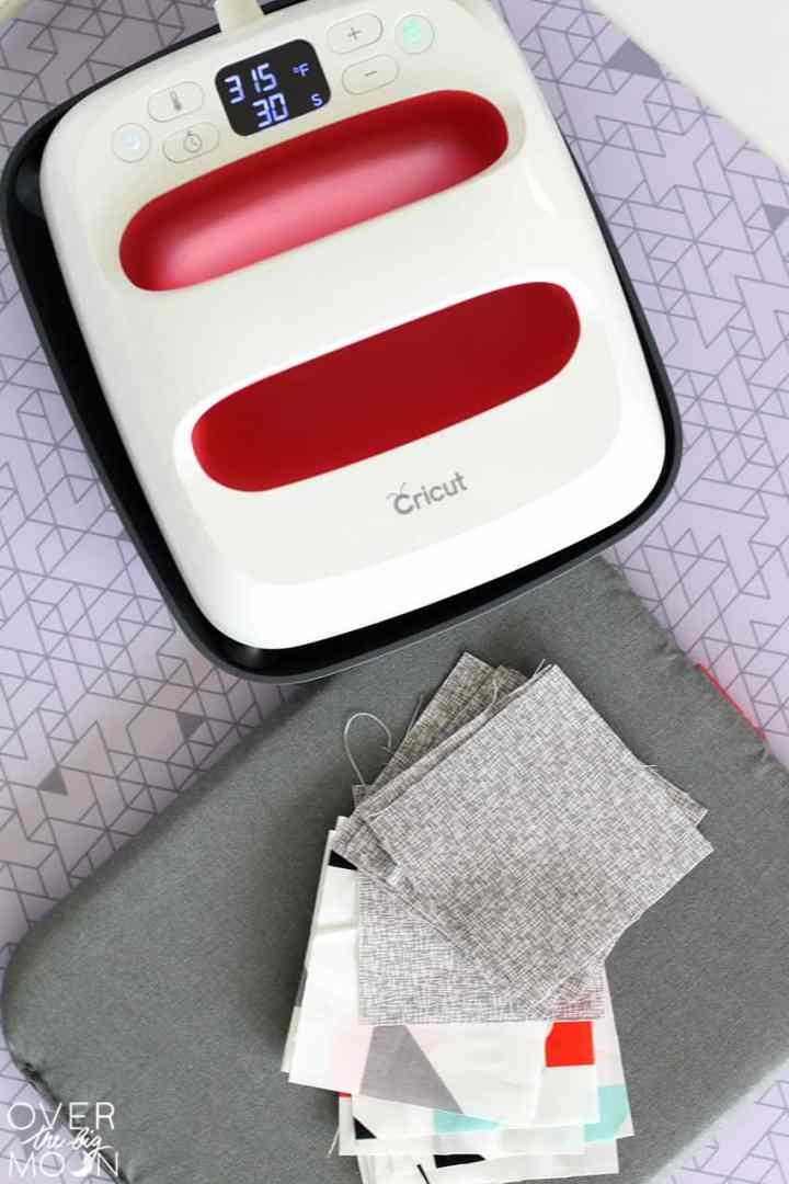 Use the EasyPress to Iron the squares!