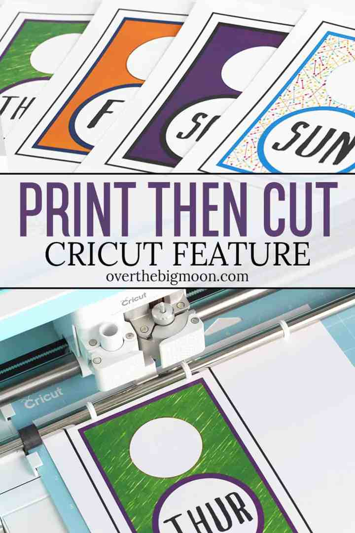 Learn How to Use the Print then Cut Feature in Cricut's Design Space program! This feature opens up a whole new creative world for Cricut users and is highly under used! From overthebigmoon.com!
