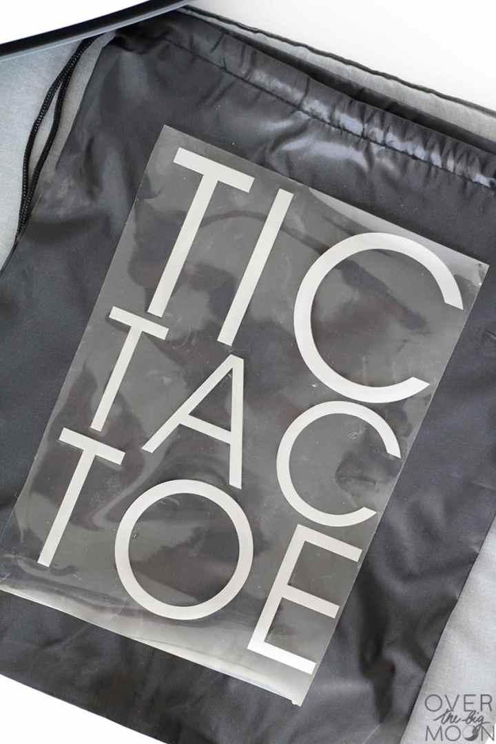 Tic Tac Toe Storage Bag!