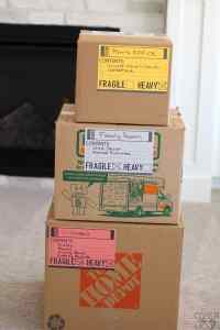 Print then Cut Moving Labels on Moving Boxes!