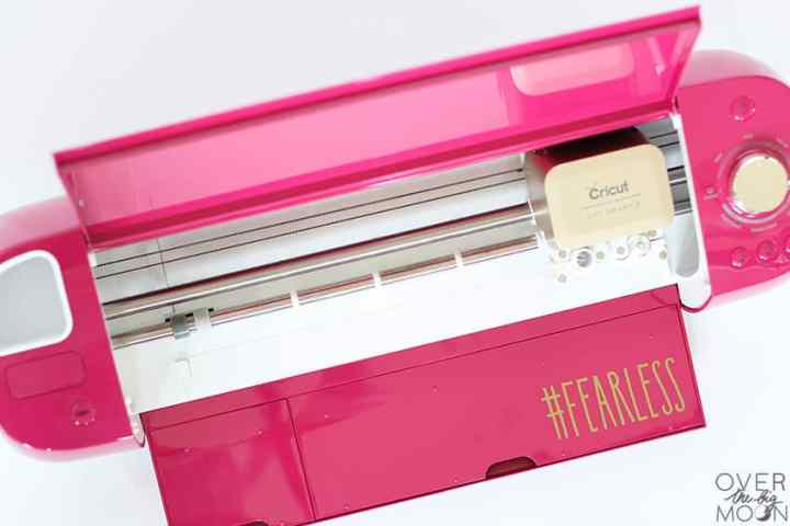 Fearless creator sticker on my Wild Rose Cricut Explore Air 2.