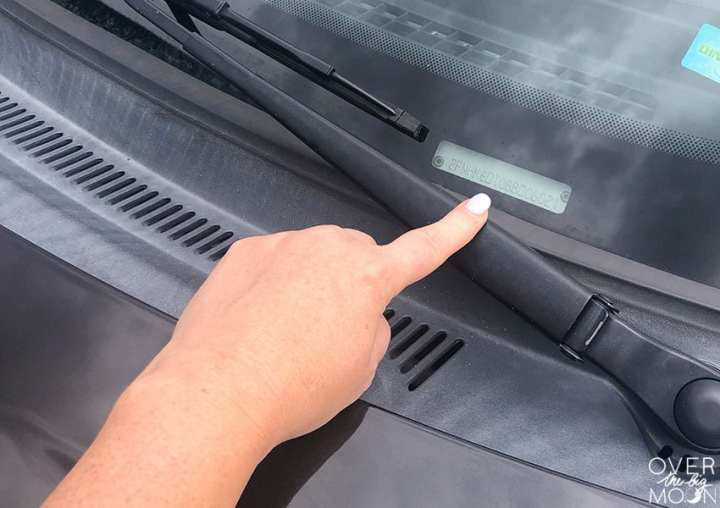 Showing where to find the VIN number on your vehicle!