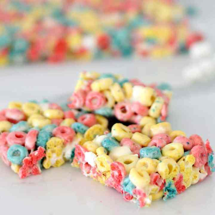Marshmallow Treat made with Berry Cereals