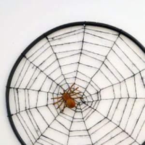 DIY Hula Hoop Spider Web