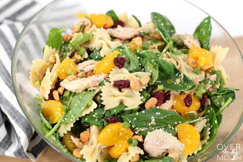 A bowl of Chicken Bowtie Teriyaki Salad!