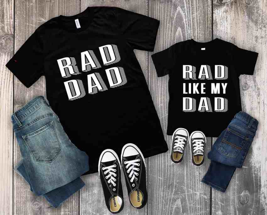 Rad Dad TShirt and Rad Like My Dad TShirt design.