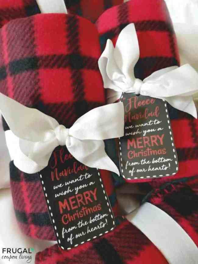 Blanket Gift Idea with gift tag