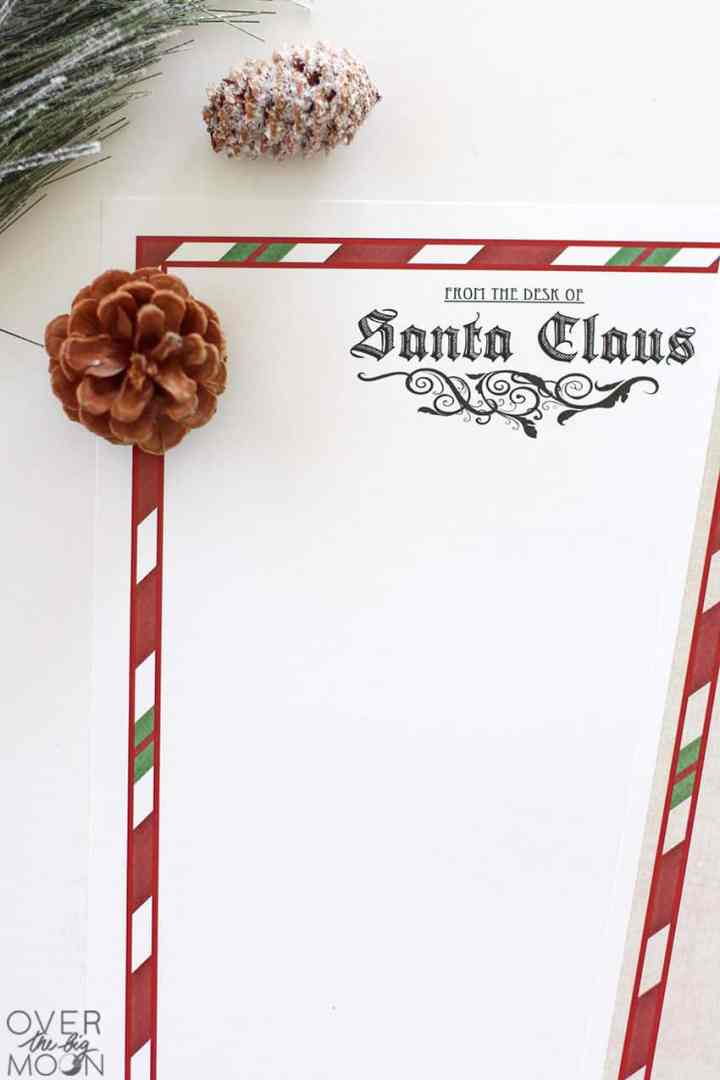 Santa Letterhead printed at home.