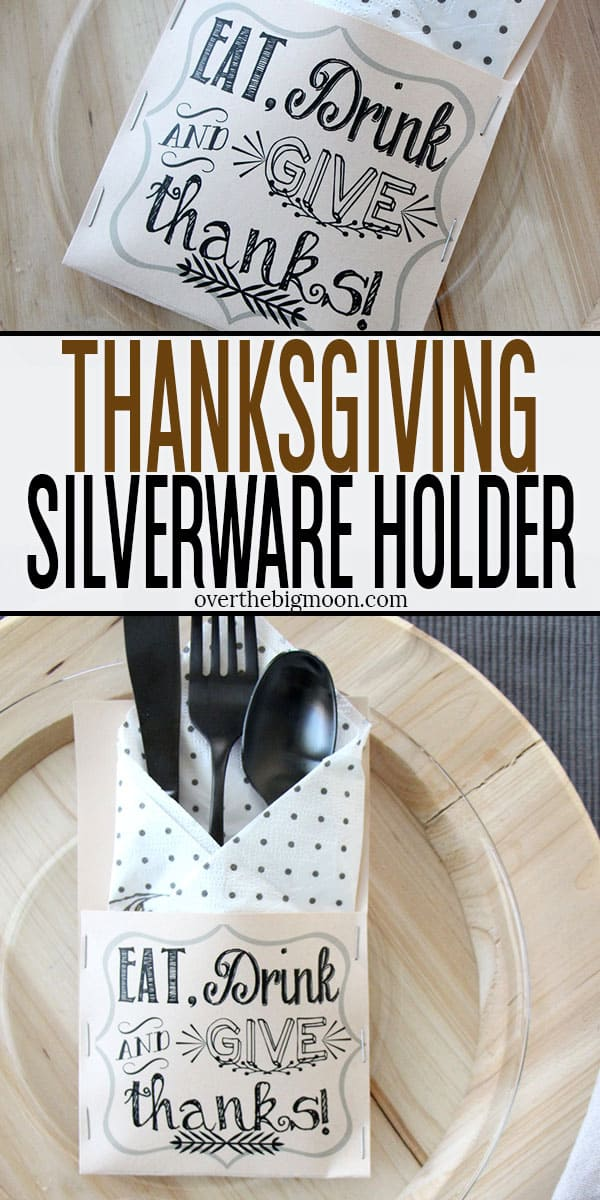 Thanksgiving Silverware Holders - Over The Big Moon
