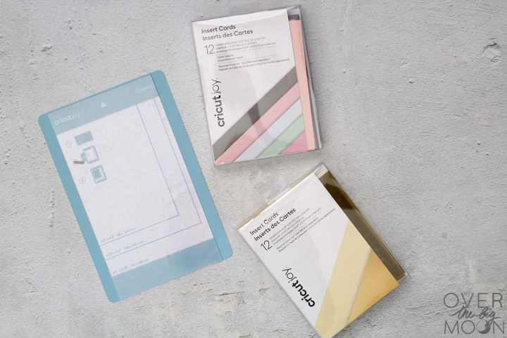 Cricut Joy Insert Card Sets and Card Mat.