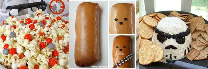 A collage of Star Wars Food and Treats